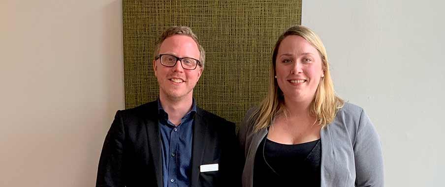 Tor Bergkvist och Sofi Linderoth från VICI.