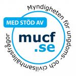 MUCF bidragsstämpel logo