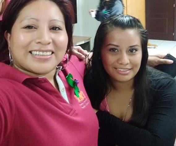 Evelyn Hernandez, till höger, och Teodora del Carmen Vásquez.