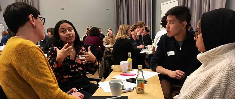 Åsa Gustafsson, Sara Sjölander, Kawin Tiansuwan och Sauda Haque diskuterade utmaningar man möter i det antirasistiska arbetet.