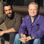 Yones Mohammadi och Martin Näslund har blivit kompisar genom Duo Stockholm.
