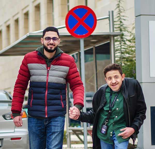 Saeed med bästa kompisen Ahmad.