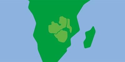 Karta över södra Afrika