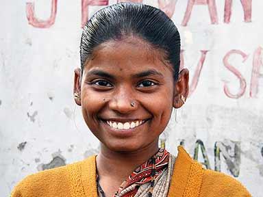 Ung indisk kvinna